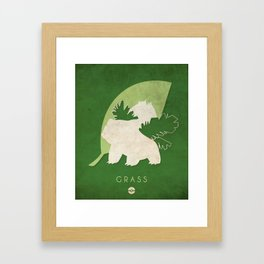 POKÉMON Grass Framed Art Print