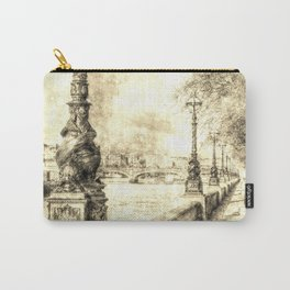 River Thames Path Vintage Carry-All Pouch