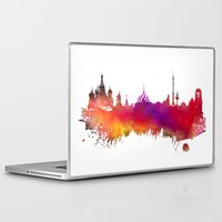 moscow Laptop & iPad Skins featuring Moscow skyline by jbjart