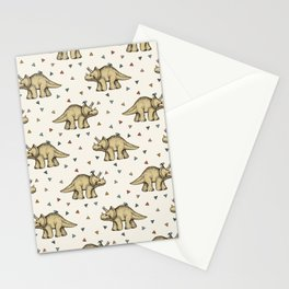Triceratops & Triangles Stationery Cards