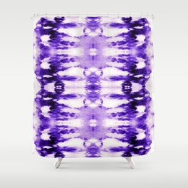 Tie Dye Purples Shower Curtain