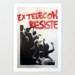 Italian Manifesto Street Art in Bologna  Art Print