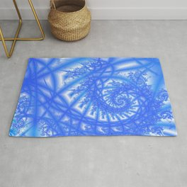Venetian Lace in Light and Medium Blues Rug