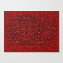 Adventure Black on Red Canvas Print
