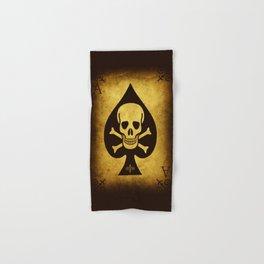 Death Card Ace Of Spades Hand & Bath Towel