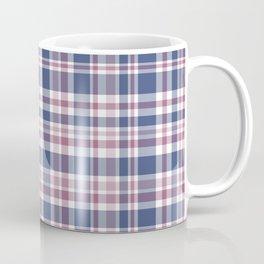 The checkered pattern . Scottish . Blue, red ,white . Coffee Mug