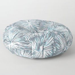 Underwater Plant Life in Blue-Green and Gray Floor Pillow