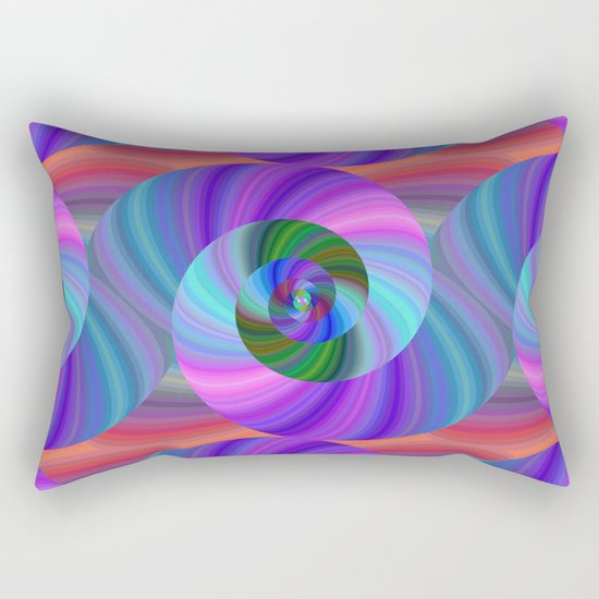 Metallic swirls Rectangular Pillow