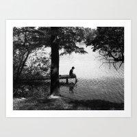 alone Art Prints featuring Alone by Kerri Swayze