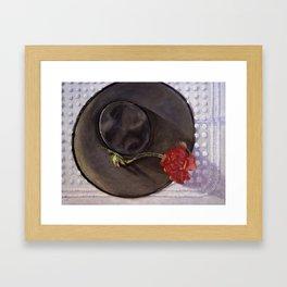 Memories — Vintage Ladies Hat Framed Art Print