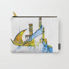 Sharjah Traditional Art in water colour Carry-All Pouch
