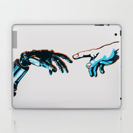 Creation of Man 2.0 Classic Michelangelo Robot Hand Art Print Laptop & iPad Skin