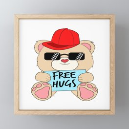 Wants to give free Hugs and Kisses? It's a perfect shirt for you. Free Hugging Kissing Love Heart Framed Mini Art Print