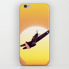 Vintage fighter plane iPhone Skin