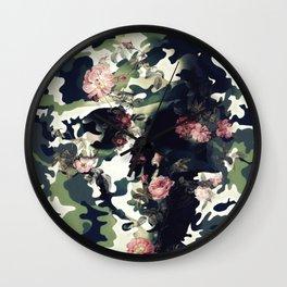 Camouflage Skull Wall Clock