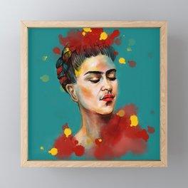Woman power Framed Mini Art Print