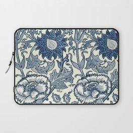 William Morris Navy Blue Botanical Pattern 5 Laptop Sleeve