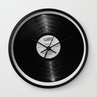 record Wall Clocks featuring Record by RMK Photography