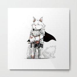 Paladin Turkish Angora Cat Metal Print