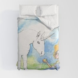 Color your own unicorn Comforters