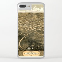Map Of Independence 1868 Clear iPhone Case