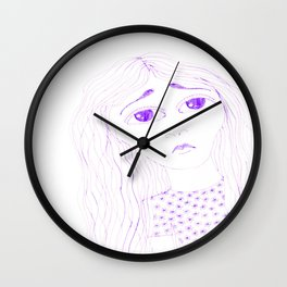 purple sadness2 Wall Clock