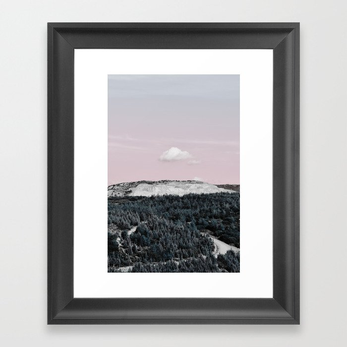Lonely Cloud And A Forest Framed Art Print