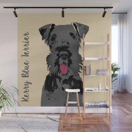 Kerry Blue Terrier Dog Wall Mural