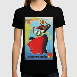 Vintage Sorrento Italy Travel Poster T-shirt