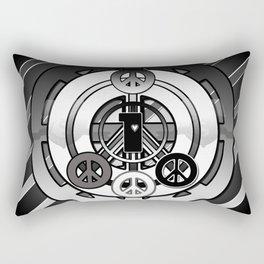 One Love (Black) Rectangular Pillow