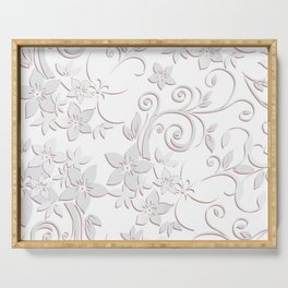 Flowers wall paper Serving Tray