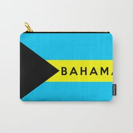 bahamas country flag name text Carry-All Pouch