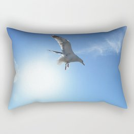 Birds in the sun against the sky Rectangular Pillow