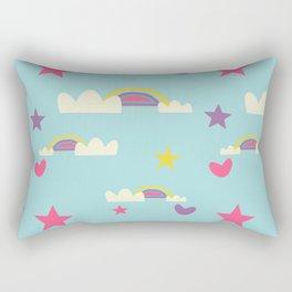 Rainbow fun blue Rectangular Pillow
