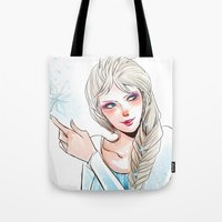 elsa Tote Bags featuring Elsa by The Radioactive Peach