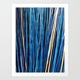 Blue Brushwood Photography Art Print