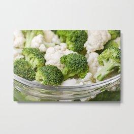 Broccoli and Cauliflower 1 Metal Print