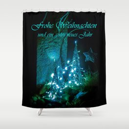 Frohe Weihnachten und ein gutes neues jahr Shower Curtain