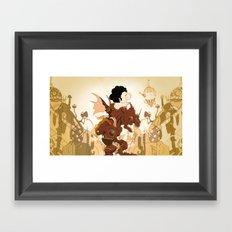Pig in a fantasy Framed Art Print