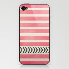 PINK STRIPES AND ARROWS iPhone & iPod Skin