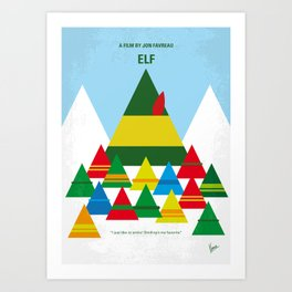 No699 My ELF minimal movie poster Art Print