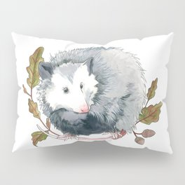 Possum and Oak Leaves Pillow Sham