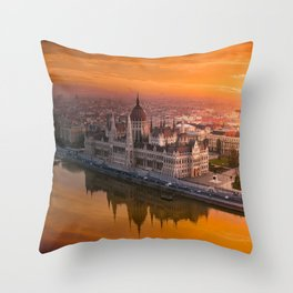 Sunrise at the Parliament Throw Pillow