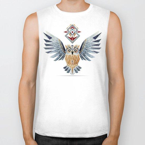 owl winter Biker Tank
