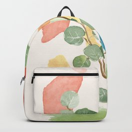Modern Abstract Watercolour Art IV Backpack