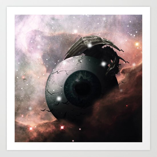Horror Science Fiction Nebula Dreamscape by planetry