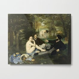 Édouard Manet - Luncheon on the Grass Metal Print