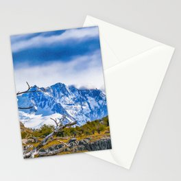 Snowy Andes Mountains, El Chalten, Argentina Stationery Cards