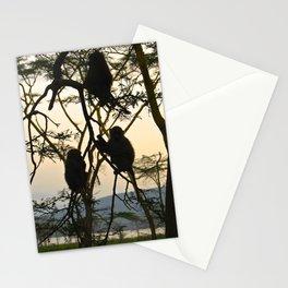 Kenya Monkey Stationery Cards