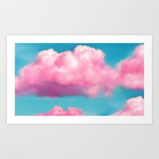 Pink clouds Art Print